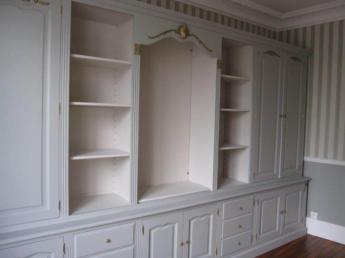 Biblioth que rangement sur mesure pour bureau bois for Bibliotheque bureau sur mesure